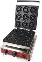 9pcs Donut Maker Donut Maschine, Kommerzielle Donut Maschine, Antihaft   9cm 220V