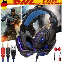 Gaming headset für PS4, 3.5mm Surround Sound mit Mikrofon, LED-Licht, Kopfhörer für Laptop, Xbox one, PC, Smartphone