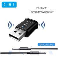 Drahtloser 2 in 1 USB V5.0 Audio Bluetooth Adapter TV Lautsprecher Sender Empfaenger