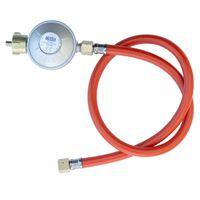 Gasdruck-Regler mit Schlauch für Gasgrill Gasdruck-Minderer 80 cm