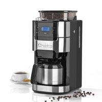 Barista Kaffeemaschine Mahlwerk Isolierkanne Kaffeeautomat 1000 Watt Edelstahl