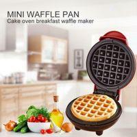 Mini Waffeleisen Maschine für einzelne Waffeln, Pfannkuchen, Gegrillter Käse, Elektrischer Kuchenmacher, Antihaftplatten, Rot