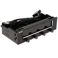 5.25 4 Kanal PWM Lüfter Controller Panel Lüftersteuerung Usb Front Panel Vorderseite USB-Hub für 5.25 \'\' Bay