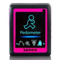 Lenco MP3-Player PODO152, Schrittzähler, Farbe: Rosa
