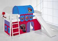 Spielbett IDA Spiderman - Systembett LILOKIDS mit Rutsche - Weiß