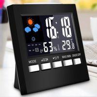 Wetterstation Wecker Thermometer Funk-Temperatur-Feuchtemessgerät