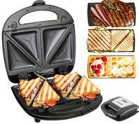 Steinborg 3in1 Waffeleisen   Sandwichmaker   Elektrogrill   Sandwichtoaster   Kontaktgrill   Paninigrill   Waffeltoaster   850 Watt   3 Auswechselbare Platten  