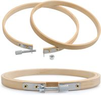 8 cm, 13 cm und 18 cm Bambus-Kreuzstich-Ringe f/ür DIY Handwerk N/ähen Yesallwas 3-teiliges rundes Stickrahmen-Set