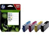 HP 364 4er-Pack Schwarz/Cyan/Magenta/Gelb Original Tintenpatronen