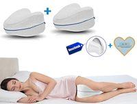 Leg Pillow 2 pcs +1Ersatzkissenbezug ,Memory Foam, ergonomisches Knie- und Beinruhekissen, stützt Ihre Knie & Beine