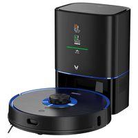 Viomi ALPHA S9 UV Sterilisationsroboter Staubsauger Roboter Automatische Staubsammlung Kehrstaubsauger und Wischen 2700Pa, Schwarz