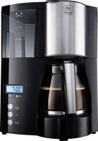 Melitta  Optima Timer Kaffeefiltermaschine   Timer-Funktion   Tropfstopp-Funktion   Schwarz/Edelstahl