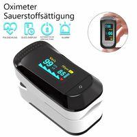 Pulsoximeter, Finger Oximeter, Fingerpulsoximeter mit LED-Anzeige,Sauerstoffsättigung (SpO), Herzfrequenzmesser für Heim und Sport, Sauerstoffsättigungsmonitor für Erwachsene und Kinder