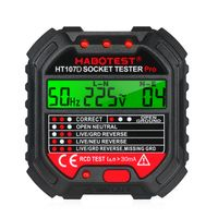 HABOTEST Digital Display Socket Tester Leckage RCD Test Netzspannung EU