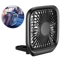 Baseus Auto Ventilator - Kopfstütze, Hinterer Sitz-Luft-Ventilator Pkw Zigarettenanzünder Schreibtisch Lüfter USB Micro schwarz