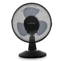 TROTEC Tischventilator TVE 11 | Automatische 80°-Oszillation mit Abschaltfunktion | Tisch Ventilator mit 2 Geschwindigskeitsstufen | Leistungsaufnahme 25W | geringes Betriebsgeräusch | schwarz | Durchmesser 23 cm