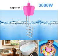 3000W Tauchsieder Reisetauchsieder Sicherheits Wasserkocher Pool Aufblasbar Heizspirale Elektrischer Heizelement Tragbar