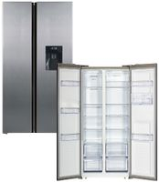Wolkenstein W-SBS490NFWD IXK Side by Side + Wasserspender Kühlschrank