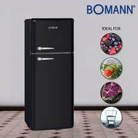 Doppeltür-Kühlschrank Retro DTR 353.1 schwarz 208 Liter