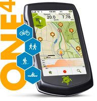 TEASI One 4 Outdoor-Navigationsgerät mit Bluetooth, Kompass und Europakarte