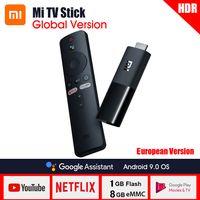Globale Version Xiaomi Mi TV-Stick 2K HDR Quad-Core Dolby DTS HD Dual Decodierung Android 9.0 1 GB RAM + 8 GB ROM Arbeiten Sie mit Google Assistant