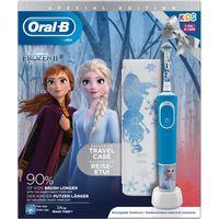 Oral-B Vitality 100 Elektrische Zahnbürste Kids Frozen + Reiseetui Akkubetrieb