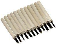24 teiliges Set Schnitzmesser mit Holzgriff Schnitzeisen für Holz Werkeln