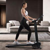 Merax Laufband klappbar Heimtrainer Fitnessgerät Walkingband Jogging, Geh- und Lauftraining, leiser 1,5 PS Motor, bis 12 km/h, Maximales Benutzergewicht 100 kg