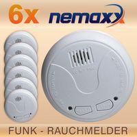 6x Nemaxx WL2 Funkrauchmelder