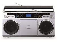 Lenco Radio SCD-580, CD-Player, Vintage Optik, Farbe: Silber