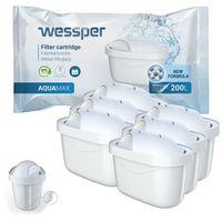 6er pack  Wasserfilter / Filterkartuschen Baugleich zu Brita maxtra kompatibel mit Brita Marella 2.4 l (200l)