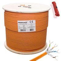 PremiumX 500m CAT 7 Netzwerkkabel Simplex LAN Ethernet Kabel Abisolierer