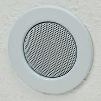 ChiliTec Decken-Einbaulautsprecher Mini Halogen-Look, 8cm Ø, 6cm Einbau, weiß