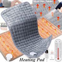75w 60x30cm Elektrische Heizkissen Therapie Wärmeauflage Heizdecke für Rücken Nacken 30/60/90 / 120Min Timer