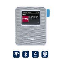 BLAUPUNKT PIB 100 WH Steckdosen Internetradio, WLAN Empfang, Steckdosenradio mit Bluetooth, Wecker, weiß