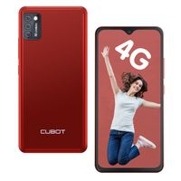 CUBOT Smartphone Note 7 Handy, 4G Android 10 Go, 5,5 HD Display, 3100mAh Akku, 3 Kameras, 2GB RAM 16GB Speicher, 128 GB erweiterbar, Daul SIM, Rot
