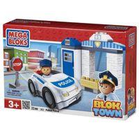 Mega Bloks 362 Block Town Polizei Auto mit Figur und Station 22 Teile