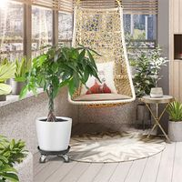 Garten runder Pflanzentopf Caddy Hochleistungspflanzentopf R/äder Mover Trolley 11,42 x 11,42 Zoll, A