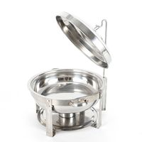 7,5L Edelstahl Warmhaltebehälter Chafing Dish Speisewärmer Rund Wärmebehälter Brennpastenbehälter