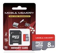 microSD Speicherkarte für Smartphone, Kamera, z.B. Samsung Galaxy Speicherkarte SD Karte, Speicherkapazität: 8GB