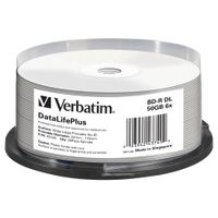 Verbatim DataLifePlus - 25 x BD-R DL - 50 GB 6x - breite bedruckbare Oberfläche - Spindel