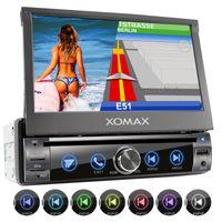 XOMAX XM-DN763 1DIN Navi Autoradio mit GPS, SD, USB und BLUETOOTH