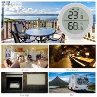Tuya ZigBee Intelligenter Temperatur- und Feuchtigkeitsdetektor Drahtlose Temperatur-Feuchtigkeitssensoren Intelligentes Zuhause Kompatibel mit Alexa Google Home