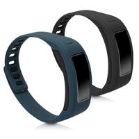 kwmobile 2x Sportarmband kompatibel mit Garmin Vivofit - Armband Silikon Fitnesstracker