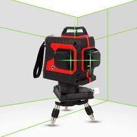 12 Linien 3D Kreuzlinienlaser 360° Rotationslaser Selbst Nivellierung IP54 Selbstnivellierend Linienlaser (Grüne Licht)