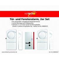 Sicherheit, Tür- und Fensteralarm im 2er Set inklusive 10 Ersatzbatterien