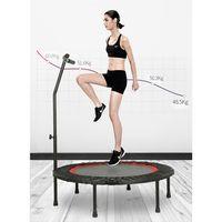 Fitness Trampolin Faltbar Indoor/Outdoor Minitrampolin Jumping Ø100cm Armlehne