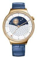 "Huawei 55021238 Jewel Smartwatch Lederarmband,Edelstahl rosegold/blau ""sehr gut"""
