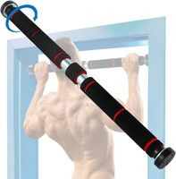 LOZAYI Klimmzugstange mit Handpolster - Türreck-Stange ohne Schrauben - Reckstange für den Türrahmen - Bestes Muskel