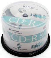 50 Xlayer Rohlinge CD-R thermo full printable MediGrade 80Min 700MB 52x Spindel